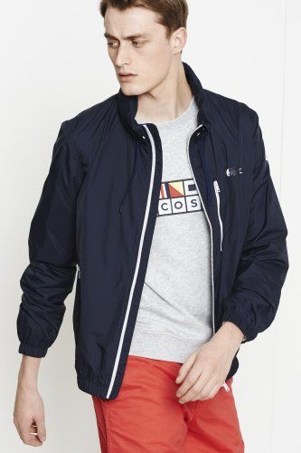410d69a65e From the #Lacoste maritime flags #Collection   Sail away   Outerwear ...
