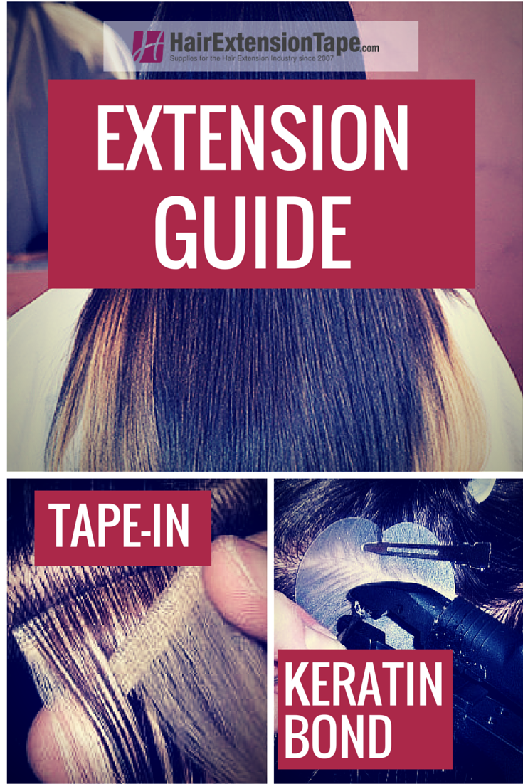 Different Types Of Hair Extensions Tape Ins And Keratin Bond Tips