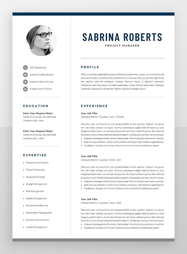 Resume Template Professional Resume Cv Template Modern Resume Resume Template Word Creative Resume Design Manager Cv Sabrina Resume Template Professional Modern Cv Template Cv Template
