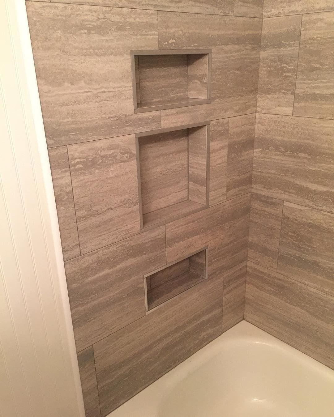 Marcus On Instagram: Built In Shower Caddy #schluter #bathroomremodel #tile  #restore