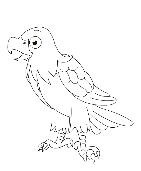 eagle picture to color | Birds: Eagles for Preschool ...
