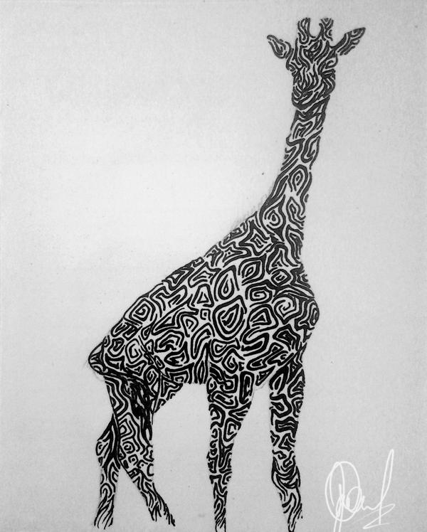 Giraffe Tribal Design | Tribal Giraffe Design By Tandenfee Designs  Interfaces Tattoo Design .
