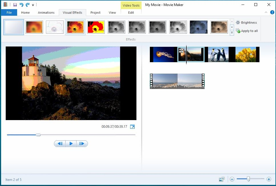 windows movie maker visual effects free download