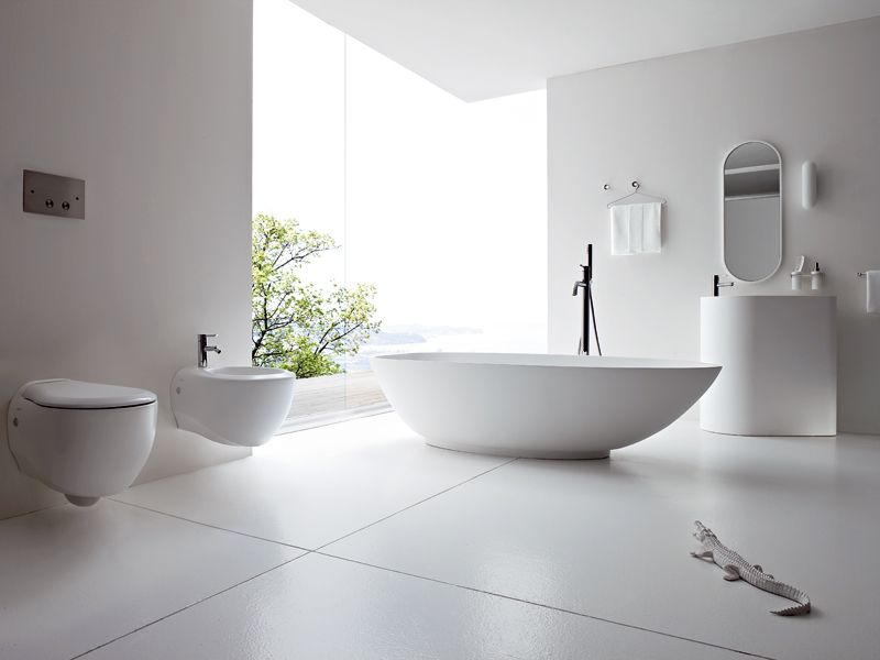 BOMA in white - freestanding bathtub by Rexa Design http ... on Modern Boma Ideas id=50733