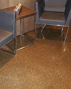 Sparkling gold floor