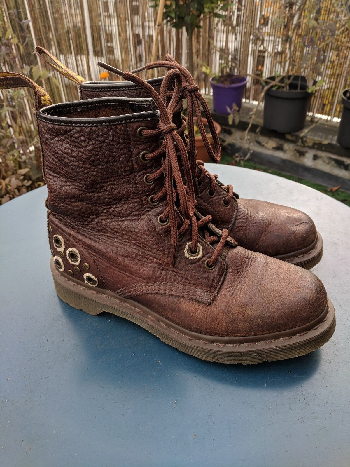 Dr Martens Nubuck Leather Boots With Detail Boots Leather Boots Nubuck Leather