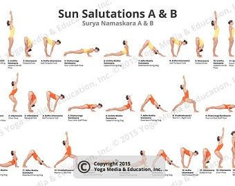 75 yoga poses pdf 85x11  etsy  ashtanga yoga primary