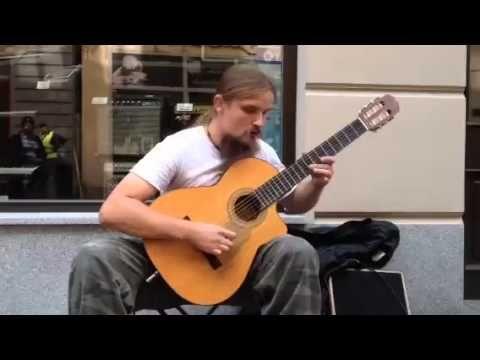 Mariusz Goli is playing amazing way on guitar.