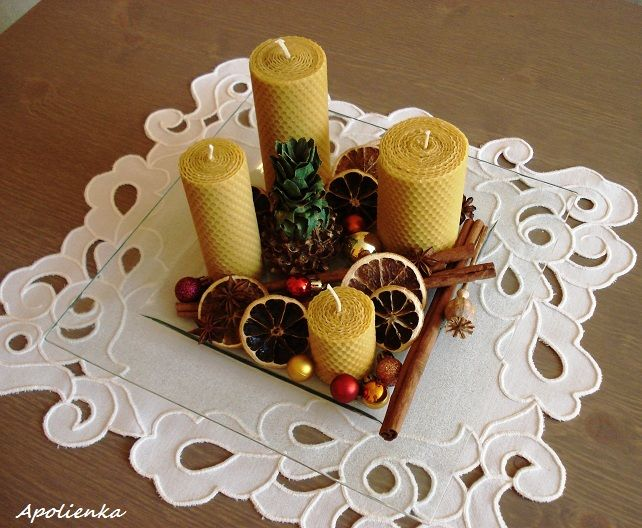 Aranžovanie - vianočná dekorácia 2014