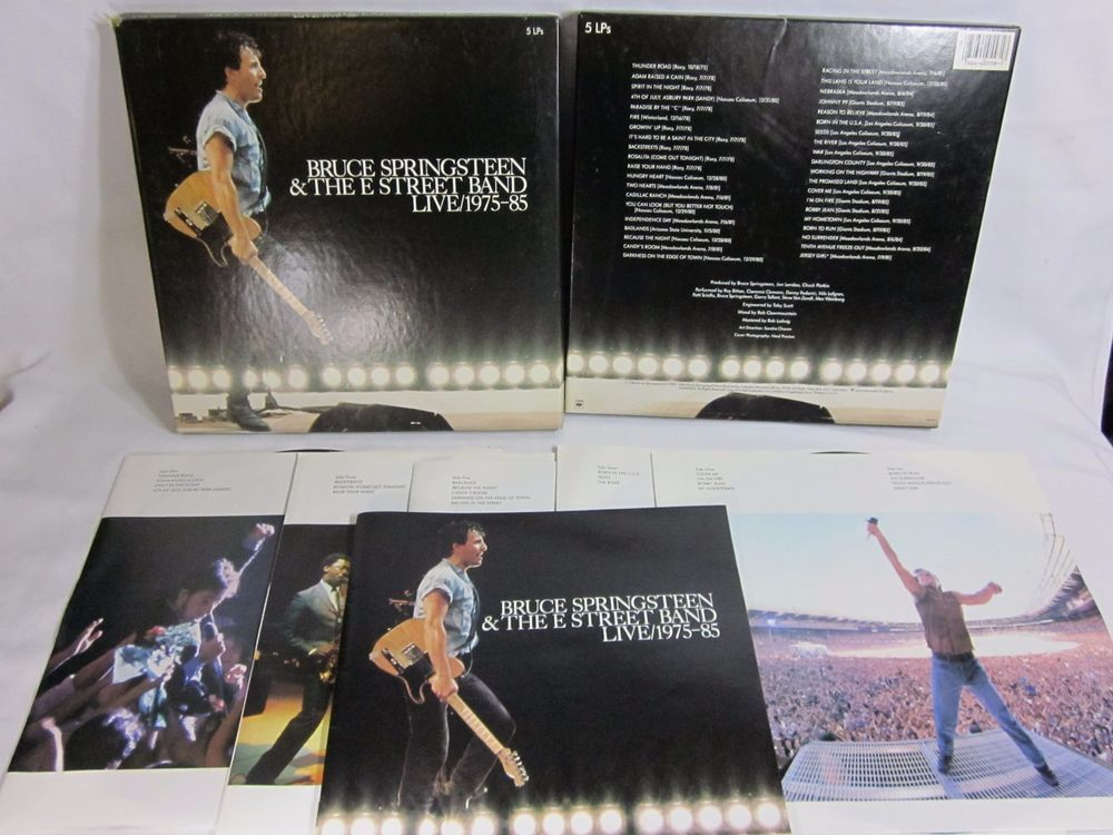 1975 85 Live Bruce Springsteen E Street Band 5 Lp Box Set Singersongwriter Bruce Springsteen Songwriting The Streets Band