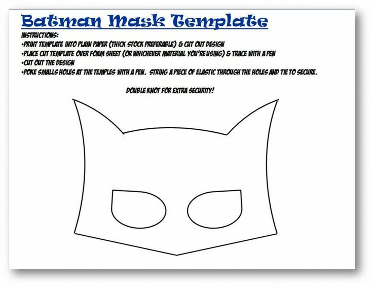 Free Printable Superhero Masks Free Printable Batman Mask