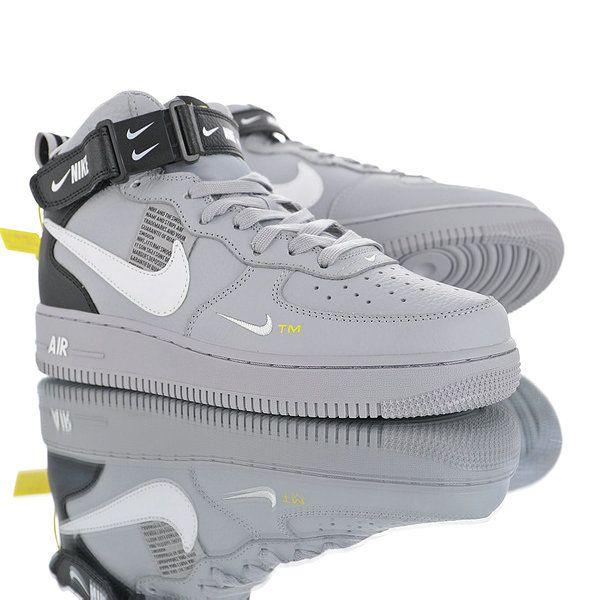 Nike Air Force 1 07 Mid Utility Pack Mud White Black Double Hook Av3803 001 Mens Womens Winter Runnin Nike Shoes Air Force Mens Nike Shoes Winter Running Shoes
