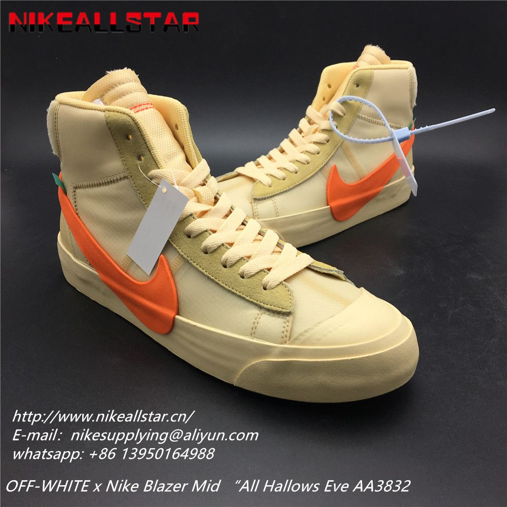 "new styles 9d866 4989d OFF-WHITE x Nike Blazer Mid ""All Hallows Eve AA3832--700 US ..."