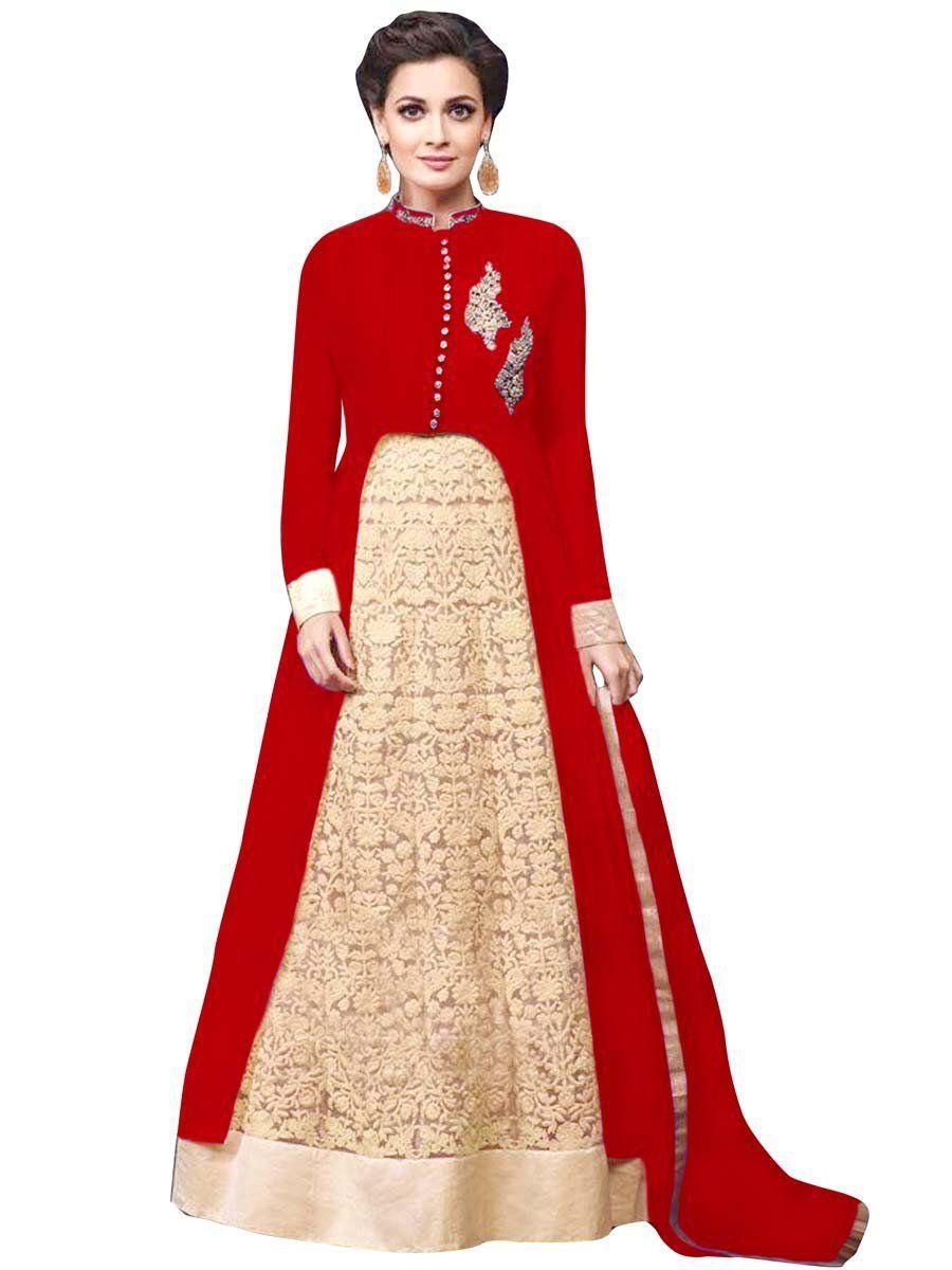Dia Mirza In Jacket Style Lehenga With Resham Embroidery Work Item Code Geb429000b Http Www Party Wear Lehenga Bridal Lehenga Online Designer Lehenga Choli