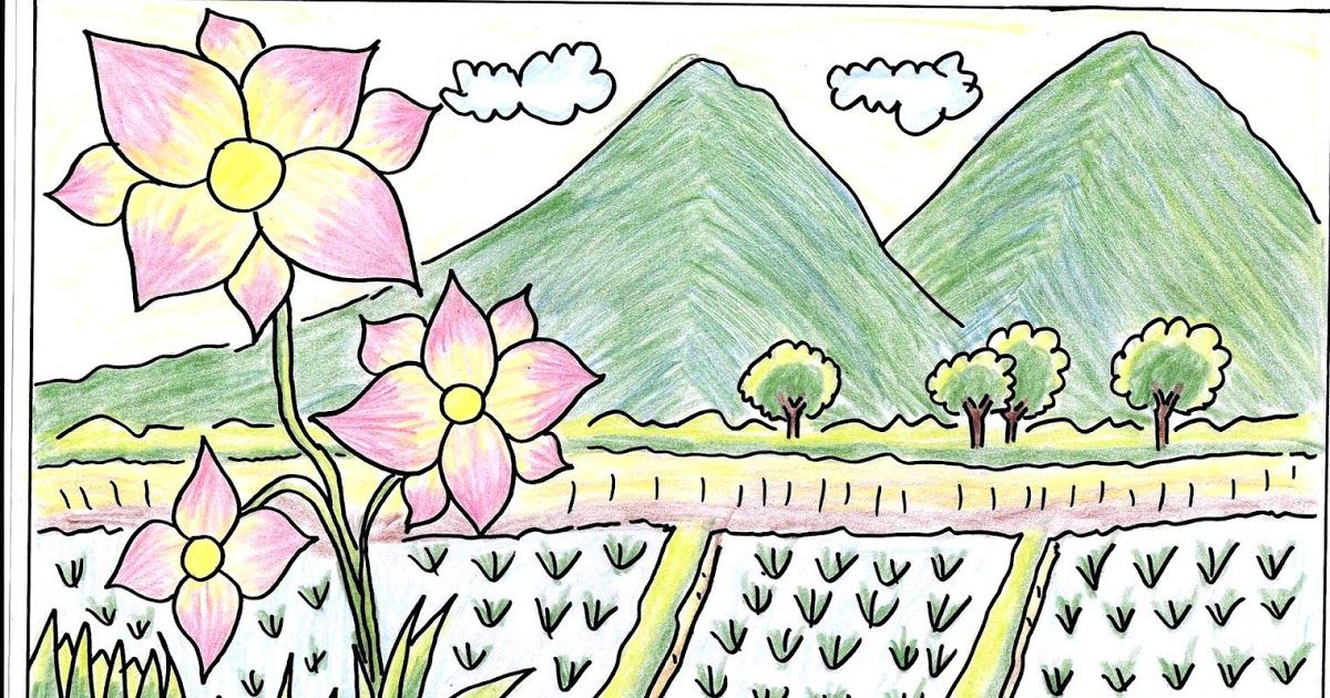 26 Gambar Pemandangan Gunung Dan Rumah Gambar Pemandangan Gunung Dan Sawah Harian Nusantara Download Cara Menggambar D Di 2020 Gambar Pemandangan Cara Menggambar