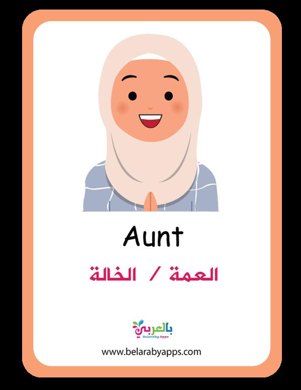بطاقات تعليم الأطفال أفراد العائلة فلاش كارد عائلتي أسرتي بالعربي نتعلم In 2021 Family Tree Activities Preschool