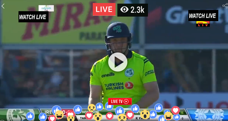 Live Cricket Live Streaming Ten 3 Sports TV AFG vs IRE