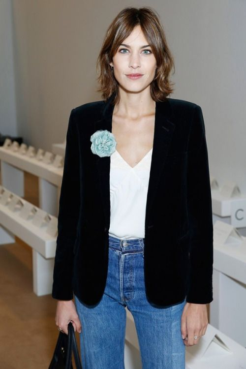 Alexa Chung attends the Emilia Wickstead show during London Fashion Week Autumn/Winter 2016/17 at on February 20, 2016 in London, England.