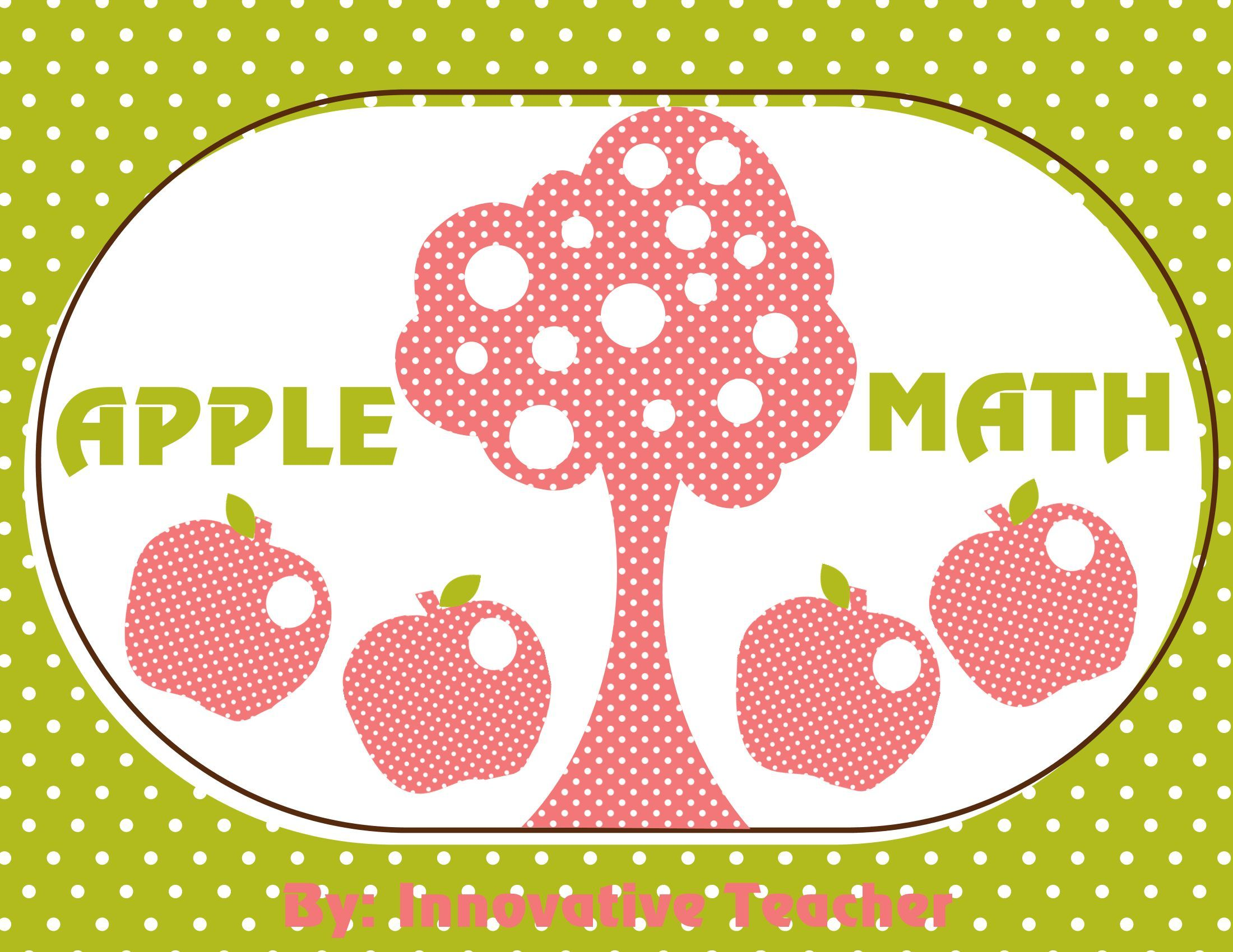 Apple Math Adding And Subtracting Activity With Images