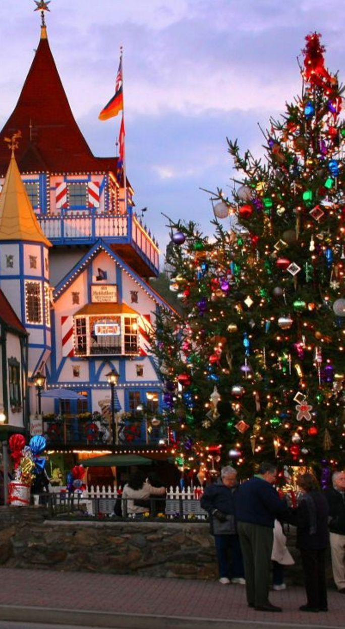 In Helen, GA, visitors come to town in December to participate in the Festival of Trees and the Kinderfest, the Christkindlmarkt, and tree lighting.