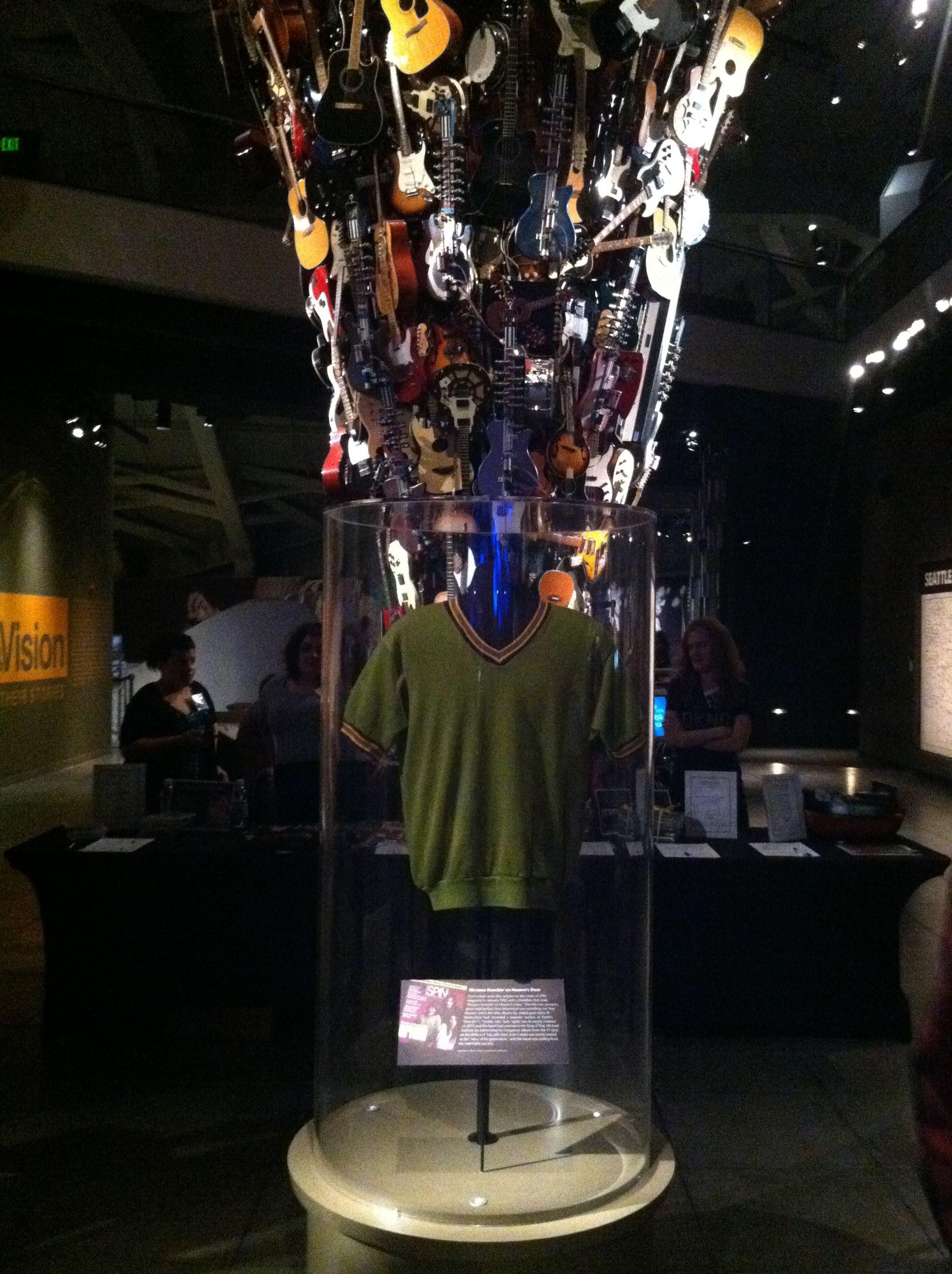 EMP Seattle Nirvana Exhibit. Kurt Cobain's shirt.