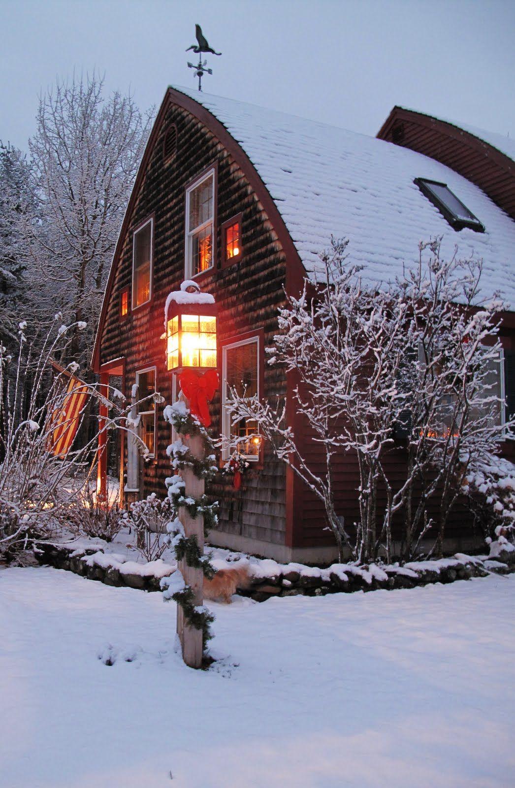 Barn Home At Christmas