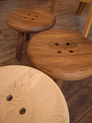 Loving These Button Stools - from Japan