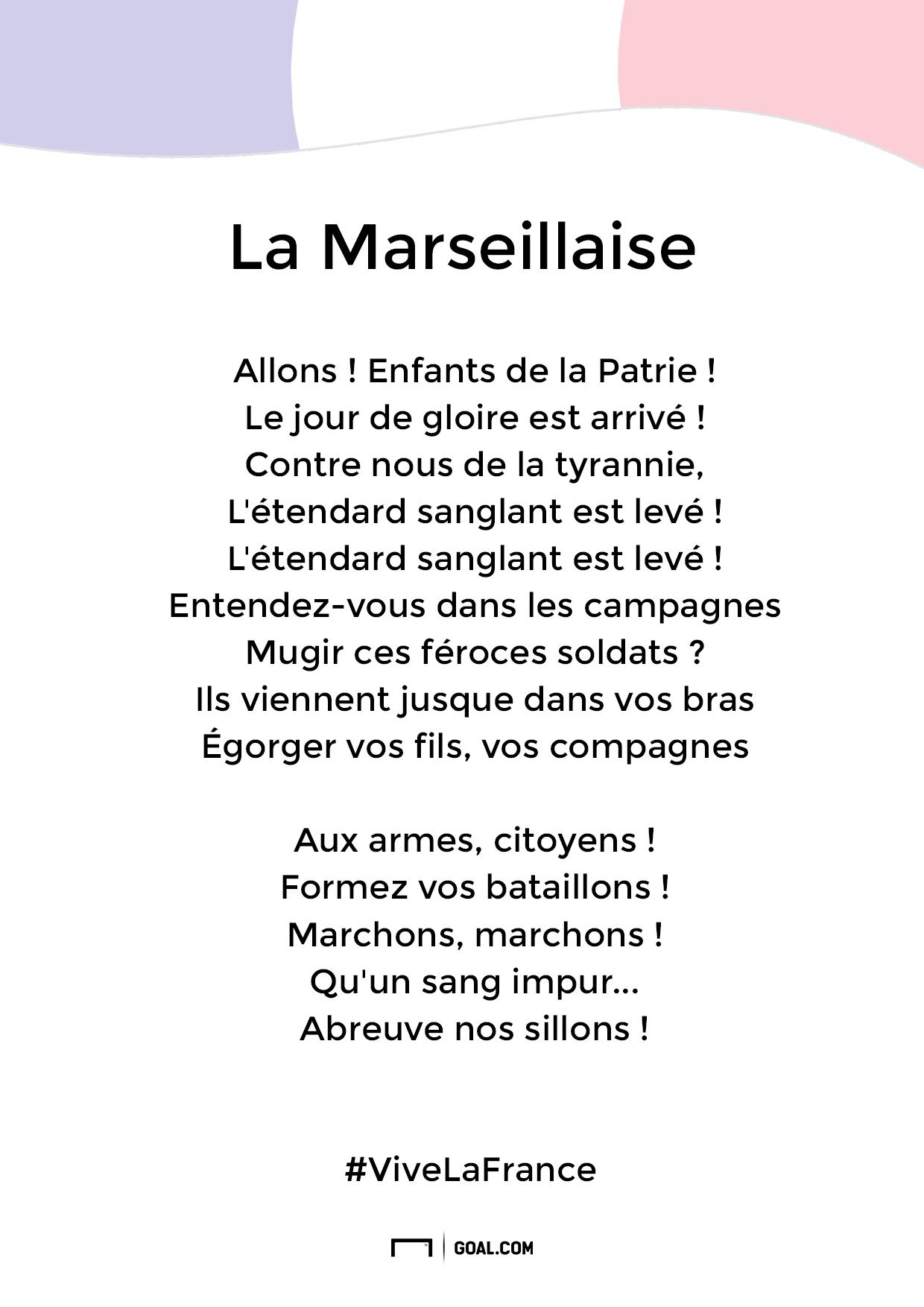 Son Hymne La Marseillaise