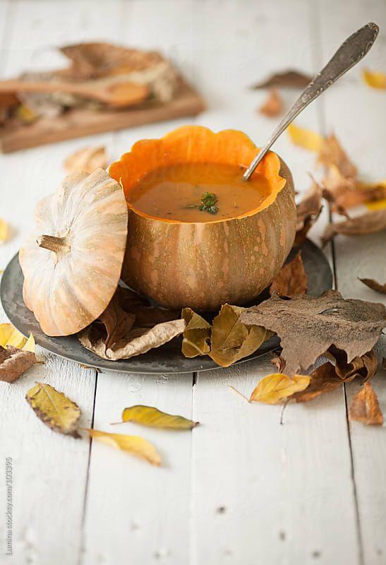 Autumn Pumpkin Soup by Lumina  - Stocksy United