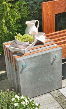 gartenbank aus beton | gartenbänke, selbst bauen und bauanleitung, Gartenarbeit ideen