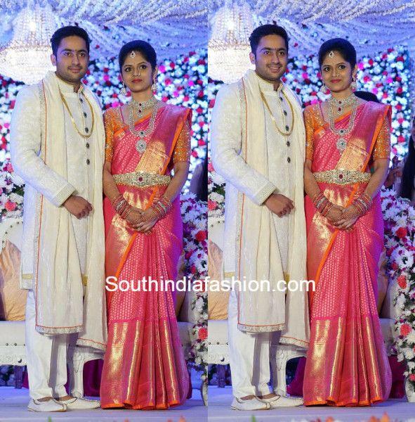 Sanjay Reddy Divya Engagement Bridal Sarees South Indian
