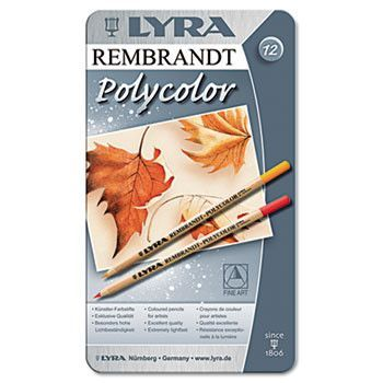 Artist Colored Woodcase Pencils, Assorted, 12/pack
