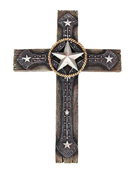 Amazon Com Morning Star Western Style Cross Wall Hanging With
