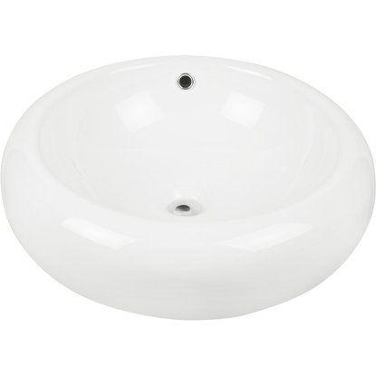 Waschtisch Obi.Aquasu Amoro Aufsatz Waschbecken 52 Cm Weiß Badezimmer