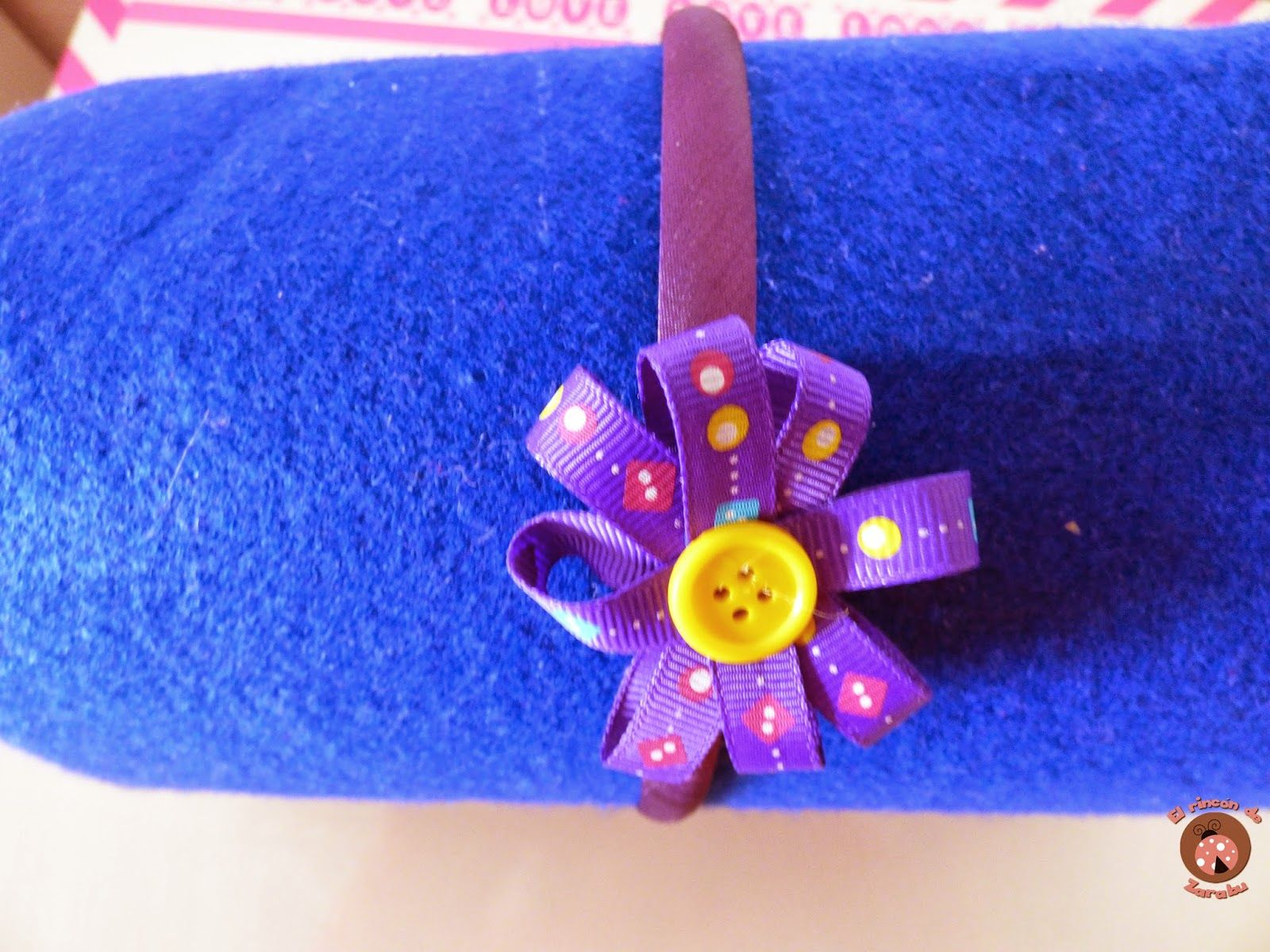 Diadema con lazo / Bow hair headband