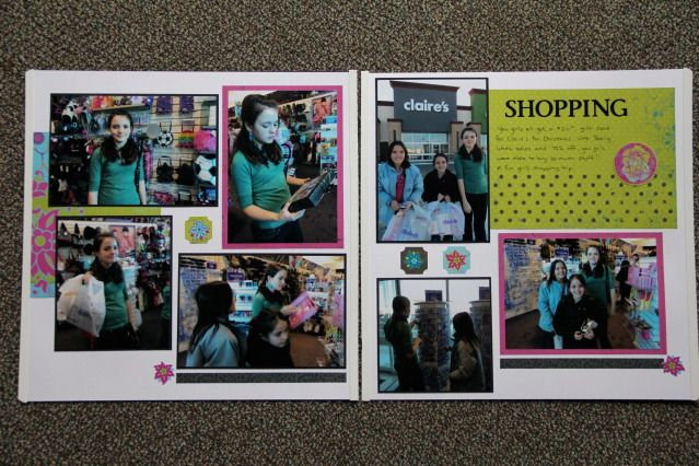 Shopping Layouts Misc Double Page Pinterest Scrapbooking