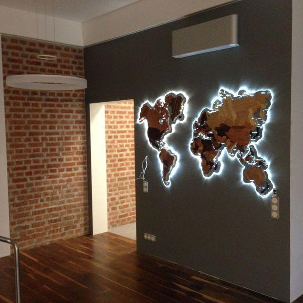 Wooden World Map Wall Art wooden world map. | worldmap, future house and wooden steps