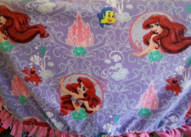 Little Mermaid, Fleece blanket, Custom blanket, Personalized blanket, Baby  blanket, Embroidered