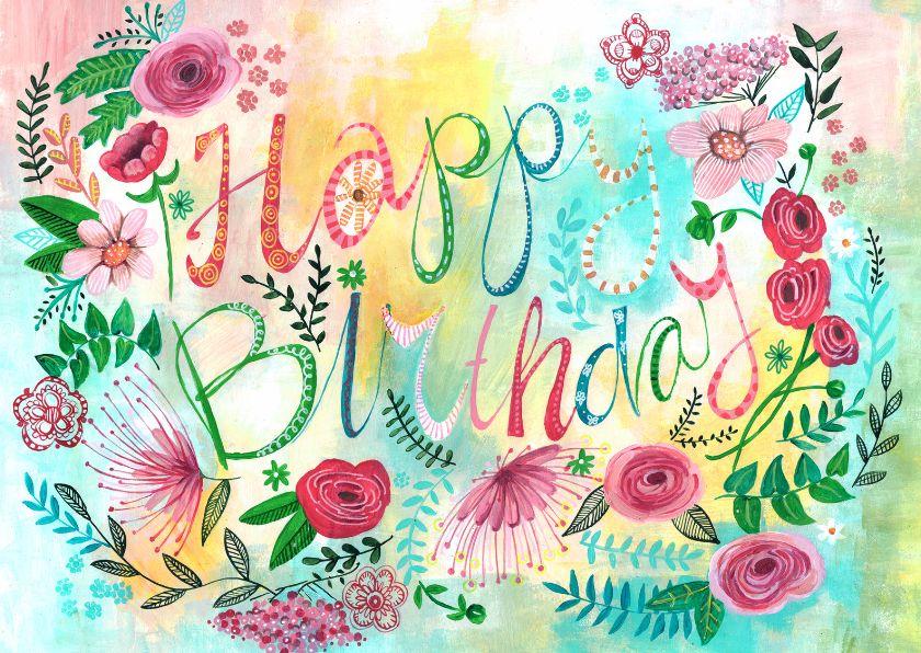 Verjaardagskaart Bijzonder Bloemen Verjaardag Vrouw