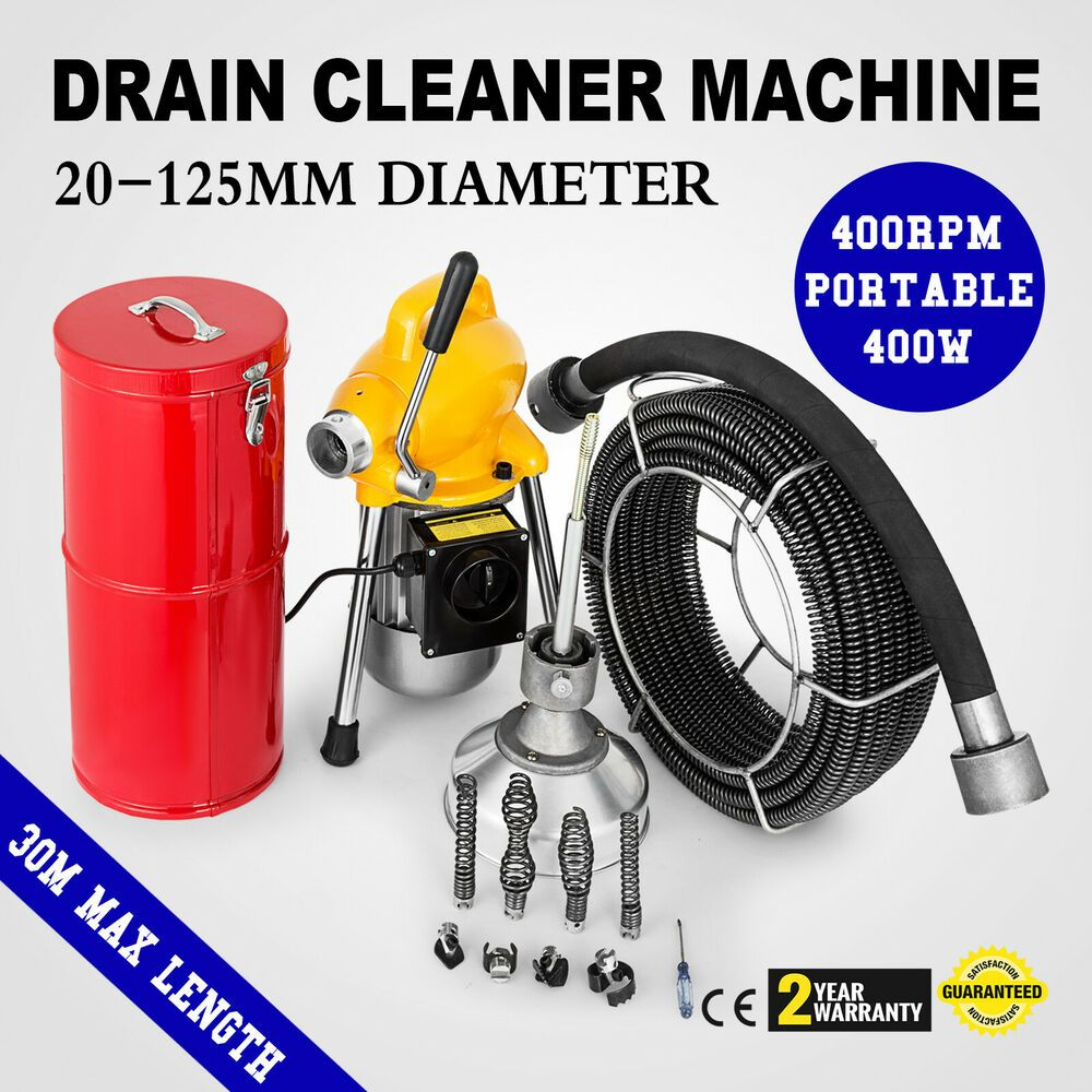 Sponsored Ebay 3 4 5 Sewer Snake Drain Auger Cleaner Machine Snake Max Length 100ft 400w Drain Cleaner Clean Machine Cleaners