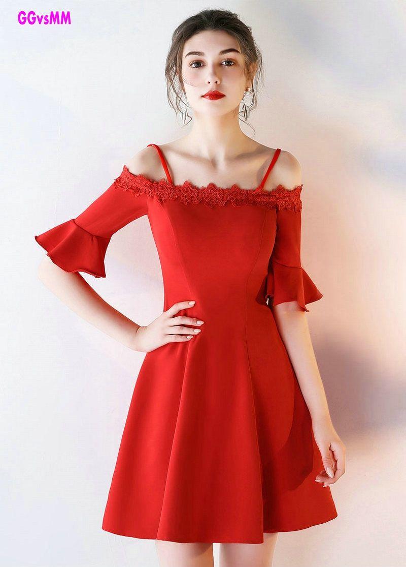Elegant red prom dresses new boatneck satin kneelingth custom