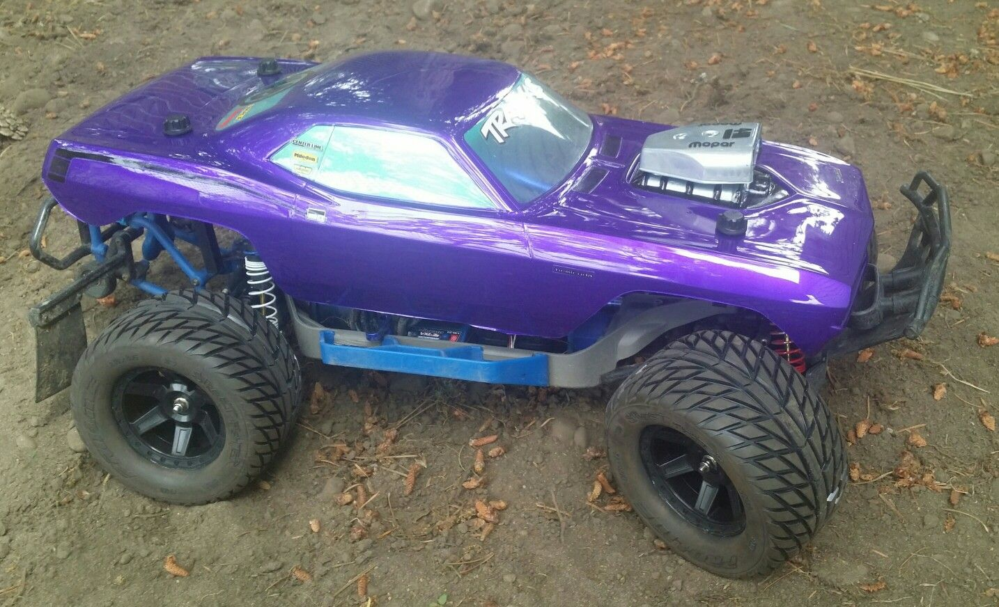 Modified Traxxas Slash 4x4 with Proline street tires and HPI