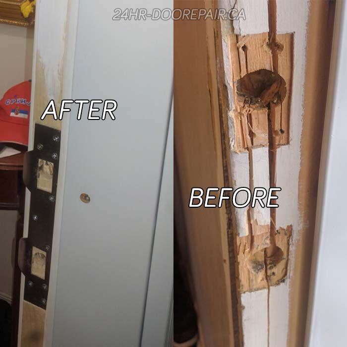 Door Break In Repair Project Door Frame Repair Door Repair Door Frame