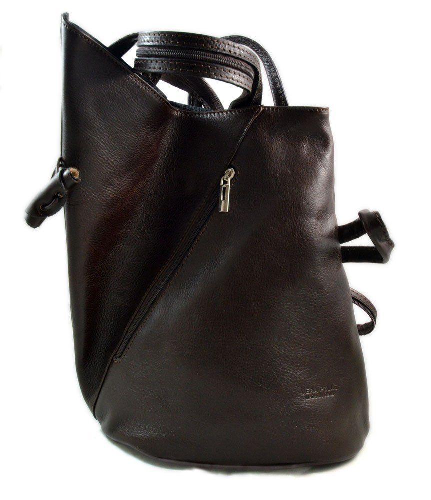 1a96e6563b10 Luxury leather backpack travel bag weekender sports bag gym bag leather  shoulder ladies mens bag satchel original made in Italy dark brown   Amazon.co.uk  ...