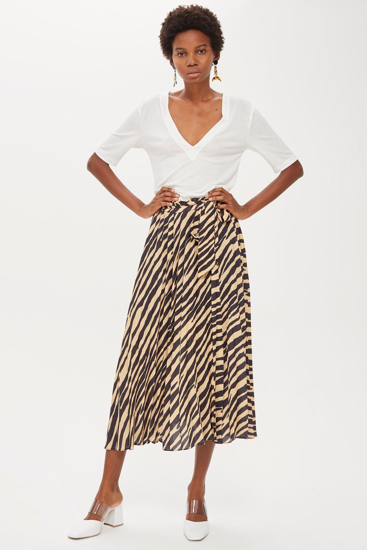 8e1d6d2062 Zebra Print Pleat Midi Skirt in 2019 | Fashion <3 | Midi skirt ...