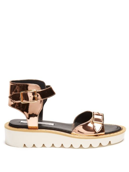 STELLA MCCARTNEY Odette faux-leather sandals. #stellamccartney #shoes #sandals