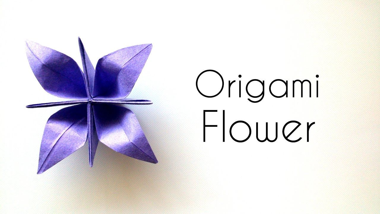 Origami Flower Tutorial Beautiful Paper Flower Youtube Book