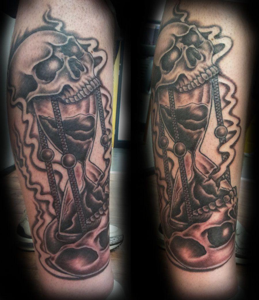 skull hourglassashtonbkeje.deviantart   tattoos