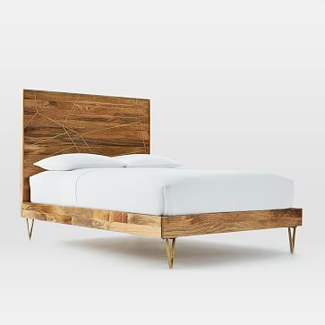 1 279 Antique Br Finished Metal Is Inlaid Into Wood Solid Raw Mango Fair Trade Certified In India West Elm