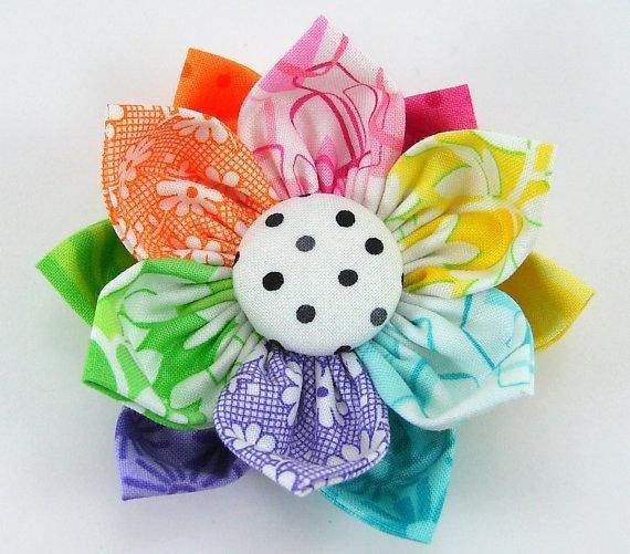 making cloth flowers | Kanzashi Fabric ... by Sunday Girl | Sewing ...